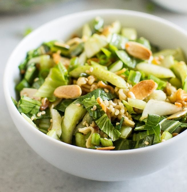 Baby Bok Choy Salad with Sesame Dressing from Culinary Hill