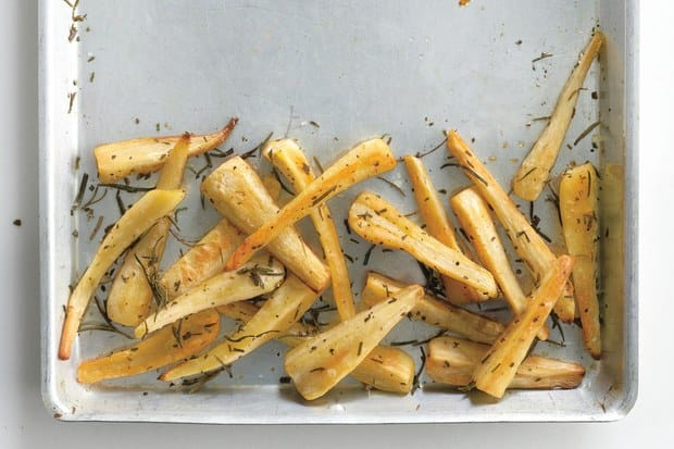 Baked Parsnip Fries with Rosemary from Epicurious