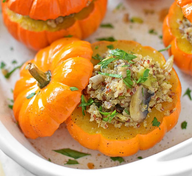 quinoa stuffed pumpkin