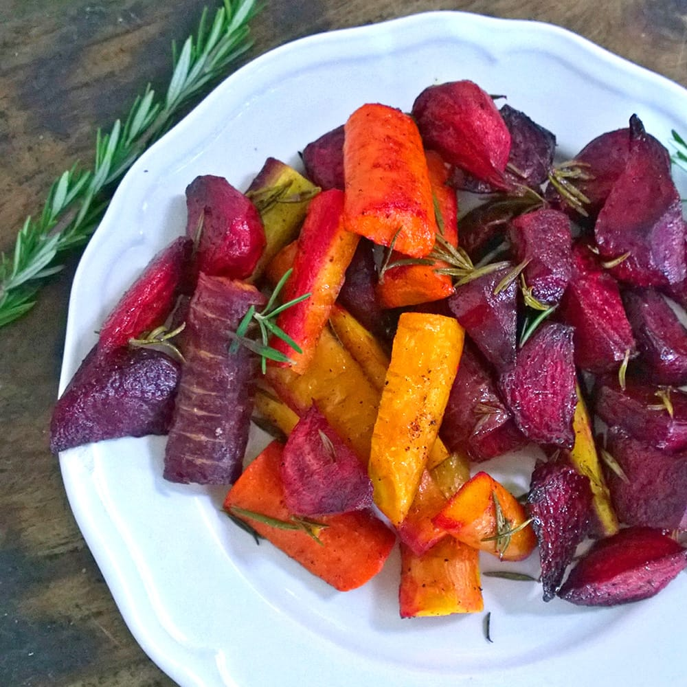 Rosemary Roasted Beets and Carrots from Just Beet It