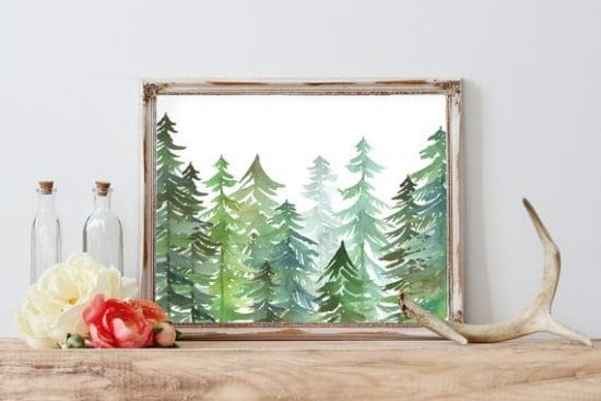 nature print home decor