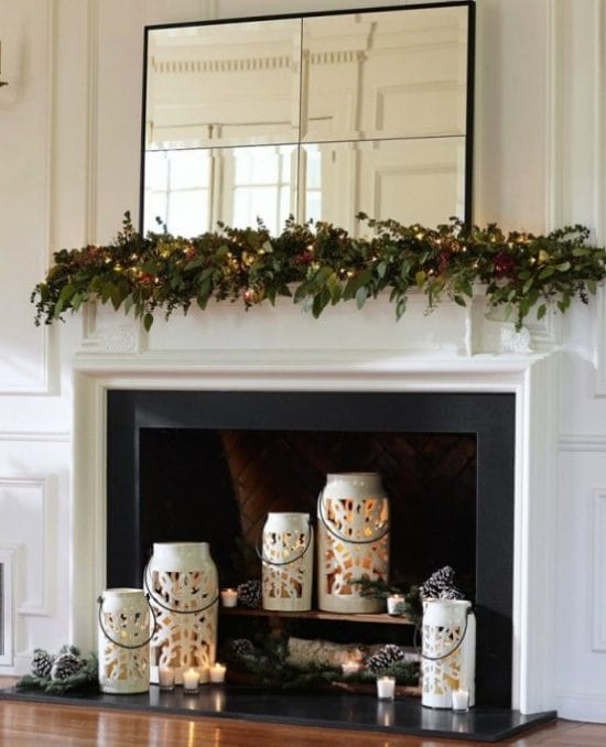 decorate nonworking fireplace